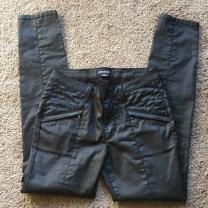 Bebe faux leather skinny pants! Size 27